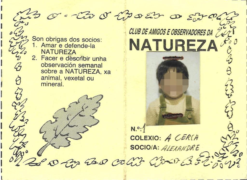 Educación ambiental Carnet Amigos da Natureza