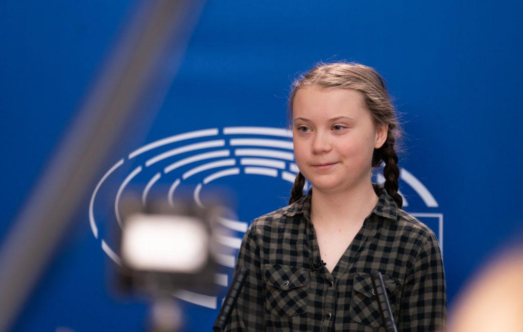 Greta Thunberg Parlamento Europeo. Fonte: Wikipedia