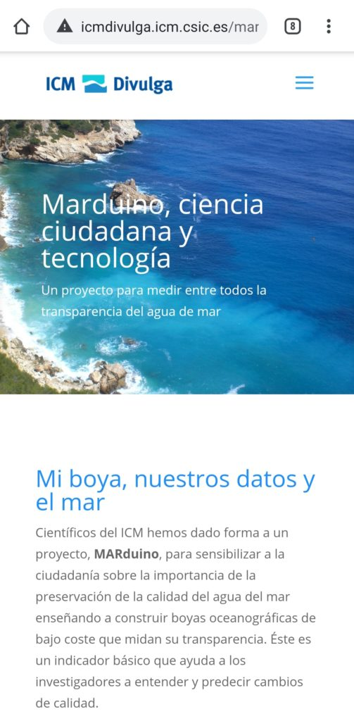Web de Marduino