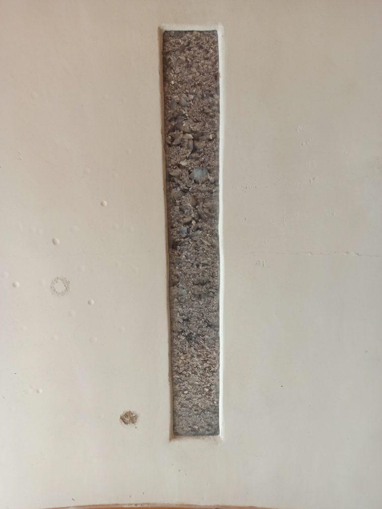 Muro de cuncha de mexillón solta