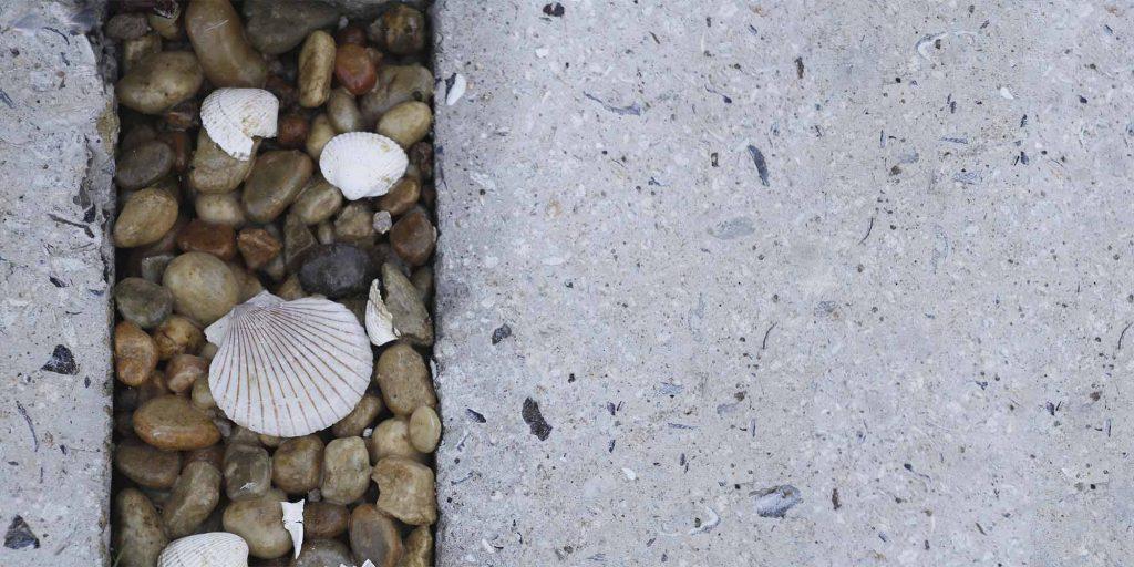 O pavimento da praza dos mariñeiros na Coruña leva mexillóns. Fonte: dousdevinte.com