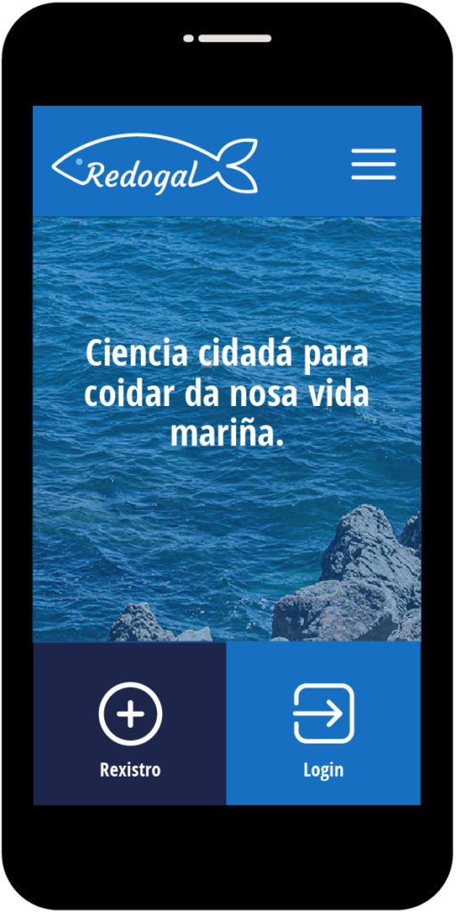 Pantalla principal da app de Redogal